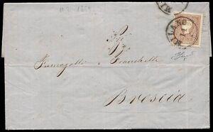 LOMBARDO VENETO 1859 - 10 s.n. 26 SPL MILANO x BRESCIA € 500