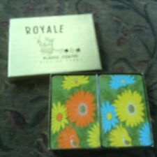 Heines Royale Lustertone Dual Deck Playing Swap Cards Vintage floral euc