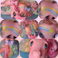 ❤️My Little Pony MLP G1 Vtg Rainbow Curl Ponies STRIPES & Shooting Star Brush❤️