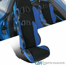 Passenger Side Royal Blue Cloth Reclinable Racing Seat Bucket Right w/ Slider