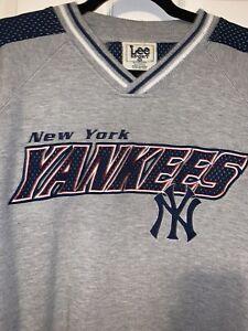 VINTAGE 90's NEW YORK YANKEES Lee Sport Crewneck Pullover Sweatshirt Size XXL