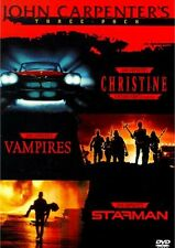 JOHN CARPENTER'S THREE PACK CHRISTINE /VAMPIRES /STARMAN 3-DISC NEW SEALED DVD