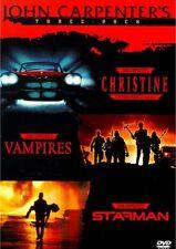 JOHN CARPENTER'S THREE PACK CHRISTINE /VAMPIRES /STARMAN 3-DISC NEW SEALED DVD