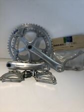 Shimano Dura Ace AX Crankset + Pedal Clips Very Good Condition 170mm