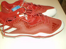 Adidas Power Alley red Low Mens Baseball Cleats  size 13
