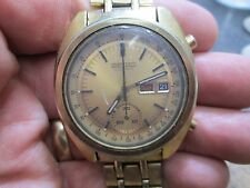 SEIKO CHRONOGRAPH AUTOMATIC Running MENS DAY/DATE REF 6139-6015 WRIST Watch BAND
