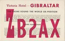 QSL QSO GIBRALTAR RADIO AMATORI CARD 1966