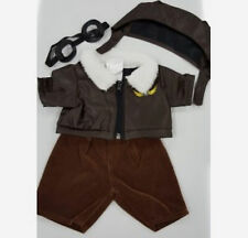 717d0c30384 TEDDY BEAR PILOT Outfit w GOGGLES CLOTHES Fit 14