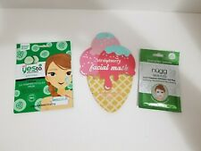 Lot of 3 Sheet Masks ~ Nugg Skin Fizz, ~ Yes to, ~ Target Strawberry