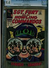 SGT THE HOWLING AND HIS COMMANDOS #43 CGC 9.4 1967 DICK AYERS OFF WHITE TO WHITE