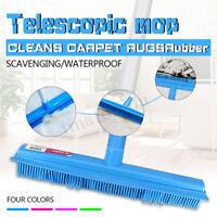 Silicone Broom Brush Floor Bristle Cleaner Pet Hair Removal Telescopic Sweep
