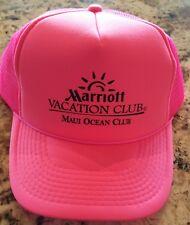 Marriott's Vacation Club - Maui Ocean Club - Hat Baseball Cap  PINK Adjustable