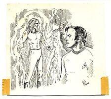 Star Trek Captain Kirk Original Pen and Ink Published Art Signed by Bill Eubank