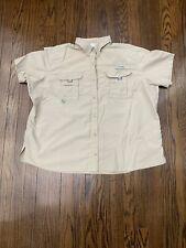 Columbia Sportswear Pfg Vented Fishing Shirt Men's 2Xl Beige