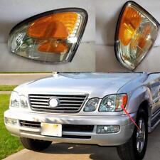 Front Bumper Turn Signals Lights Corner Lamp 2pcs For 1998-07 Land Cruiser LX470
