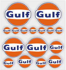 16x Gulf Oil decals / stickers, Racing, Quality vinyl, laminated
