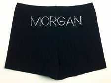 Gazelle Personalised Gymnastics/Dance Shorts. Black Stretch Lycra