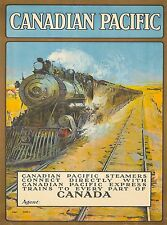 Canadian Pacific Canada Steemer Vintage Railroad Travel Advertisement Poster