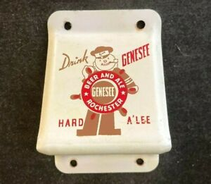 Vintage GENESEE BEER AND ALE WALL MOUNT BOTTLE OPENER Rare Old Advertising Sign
