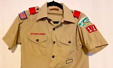 BSA Boy Scout Uniform Shirt Youth LARGE SS MADE IN USA
