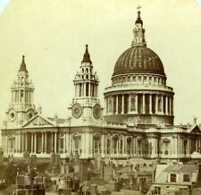 London St Paul's Cathedral Old London Stereoscopic Company Photo 1860