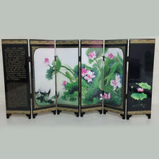 1 Pc Wooden Chinese Style Vintage Retro Small Folding Panel Screen Room Divider