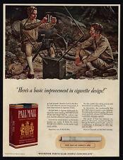 1941 PALL MALL Cigarettes - WWII - U.S. Army Signal Corps - Radar - VINTAGE AD