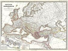 1865 Spruner Mapa del Imperio Romano Bajo Constantino Cartel Vintage 2953pylv