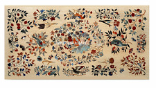 3'x2' Yellow Marble Dining Table Top Birds Inlay Mosaic Pietra Dure Decor H992