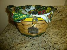 Longaberger Large John Deere Basket Liner & Protector 3 pc Combo Nice
