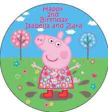 Peppa Pig 19cm Edible Personalised Cake Topper Party Decoration