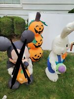 A Inflatable Bundle A Easter Bunny And 3 Stacked Pumpkins