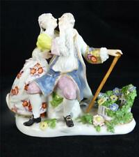 ANTIQUE 18th OR 19th CENTURY PORCELAIN FIGURE GROUP FIGURINE PAIR OF LOVERS