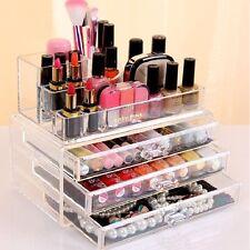 Cosmetic Organizer Clear Acrylic Make Up Drawers Holder Jewelry Case Box Storage