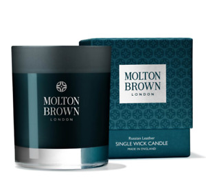 Molton Brown Russian Leather Single Wick Candle Brand New