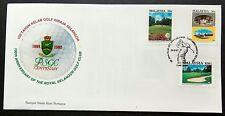 1993 Malaysia Centenary of Royal Selangor Golf Club FDC (minor toned) Lot B