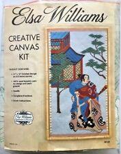Rare Elsa Williams Samurai Crewel Canvas Kit  1970's Opened Not Started