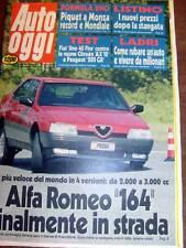 AUTO OGGI - ALFA 164 - BELLISSIMA TAVOLA CON LA FERRARI DI FANGIO RENAULT ALPINE
