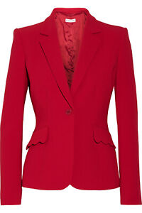 Altuzarra Gromwell Crepe Blazer in Ruby Red (size medium)