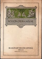 Vintage 1913 Boston Opera House Theatre Booklet