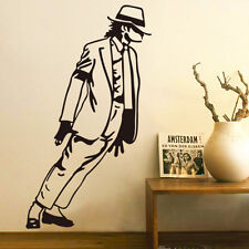Michael Jackson Dancing Vinyl Art Wall Stickers Decal Black Diy
