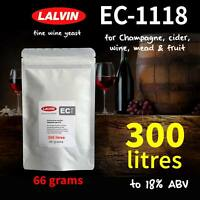 Lalvin EC-1118 wine yeast. A fantastic fermenter for up to 300 LITRES - 18% ABV
