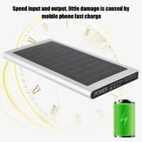 20000mAh Mobile Phone Solar Battery Power Bank Charger 2 Dual USB Waterproof LED