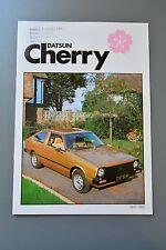 Sales Brochure Datsun Cherry UK 1980 Saloon Coupe Estate