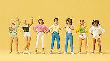 Preiser 10258 h0, fille/jeunes femmes, 7 personnages, peintes à la main, NEUF