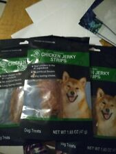 New listing Oven Baked Chicken Jerky Strips Dog Treats Snacks 3 Pack 4.95 Oz Total