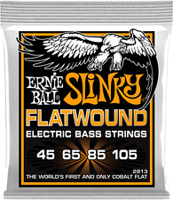 Ernie Ball 2813 Hybrid Slinky Flatwound Elec Bass Guitar Strings gauges 45-105