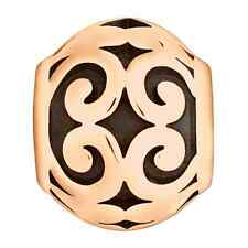 Lovelinks Bead, Rose Coloured Bronze Scroll Ball Shape Charm Jewelry TT300BZ