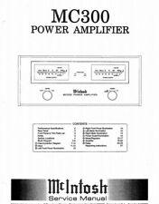 Mcintosh MC300 Power Amplifier SERVICE MANUAL