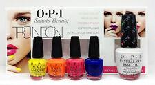OPI MINI Nail Lacquer - TRUNEON KIT 4 Colors 3.75ml + Put a Coat On! 15mL DDA26
